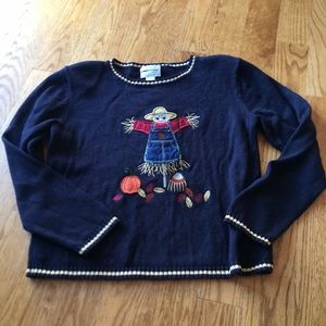 Hand embroidered fall sweater